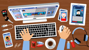 Social networking. Royalty Free Stock Image
