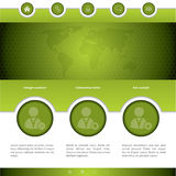 Social networking website design Stock Photo