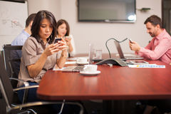 Social networking at work Royalty Free Stock Image