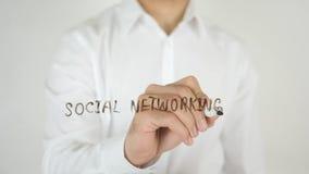 Social Networking, Written on Glass Stock Photos