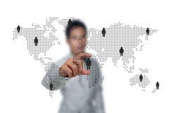 Social networks. The social networks of business people Stock Images