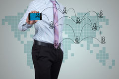 Social networks. Stock Image