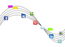 Social Networks. An illustration of Most popular Social Networks Stock Image