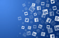 Social networks background. Social networks blue background illustration Royalty Free Stock Photography