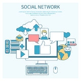 Social networks. Cloud of application icons Stock Images