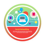 Social networks. Cloud of application icons Royalty Free Stock Photos