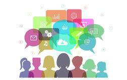 Social networks communication people Internet Royalty Free Stock Image
