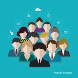 Social networks communication people Internet Stock Image