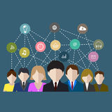 Social networks communication people Internet Stock Photo