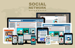 Social Networks. Royalty Free Stock Images