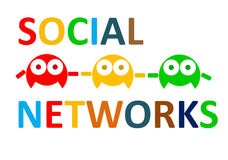 Social networks connect people. Minimalist expression of social networking = social networks connect people Royalty Free Stock Image