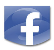 Social networks. Facebook social network on white background Stock Photography