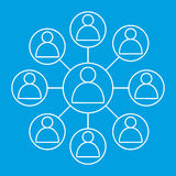 Social networks friends icon Royalty Free Stock Image