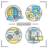Social networks graphic set Royalty Free Stock Image