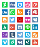 Social networks icon logos Royalty Free Stock Photo