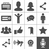 Social Networks Icons. Social Network Icons. Simplus series Stock Photography