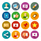 Social Networks icons – Fllate series. Professional vector flat and long shadow icons for your website, application and presentation royalty free illustration