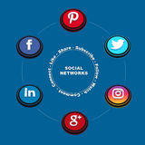 Social Networks image 1 royalty free illustration