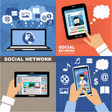 Social Networks. Internet communication. Royalty Free Stock Photos