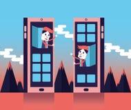 Social Networks. Internet communication concept. Stock Images