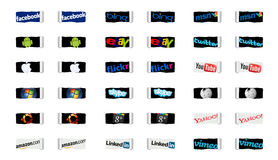 Social networks and internet technology Stock Photography