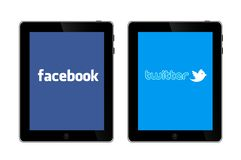 Social networks on IPad 3 Stock Photography