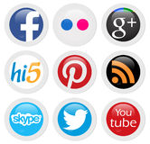 Social networks. Social network icons in white background Stock Image
