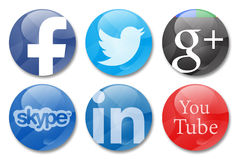 Social networks. Social network icons in white background Royalty Free Stock Photography
