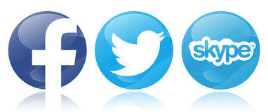 Social networks. Social network icons in white background Stock Images