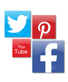 Social networks. Social network icons in white background Stock Photo