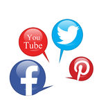 Social networks. Social network icons in white background Stock Photography