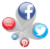 Social networks. Social network icons in white background Stock Photos