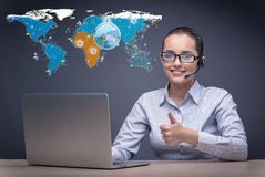 The social networks and online interactions concept Stock Photography
