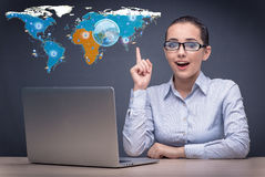 The social networks and online interactions concept Stock Image