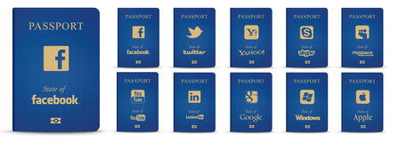 Social networks passports Stock Images