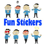 Social networks sticker Royalty Free Stock Photography