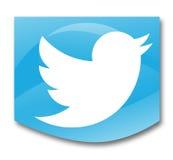 Social networks. Twitter social network on white background Stock Image