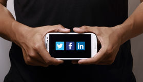 Social nätverkande Arkivbild