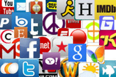 Social and otner media icons, editorial use Stock Photography