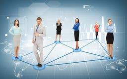 Social ou réseau d'affaires photographie stock