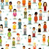 Social people communication network seamless background Stock Photography