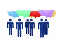 Social People Discussing with Speech Bubbles Royalty Free Stock Images