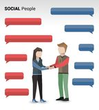 Social people print Royalty Free Stock Image