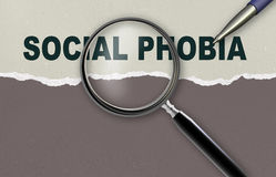 Social phobia Stock Image