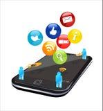 Social_phone Fotos de archivo libres de regalías