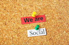 We are social Royalty Free Stock Photography