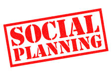 SOCIAL PLANNING. Red Rubber Stamp over a white background Royalty Free Stock Photography