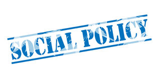 Social policy blue stamp Royalty Free Stock Photography