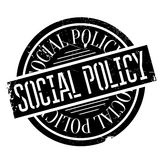 Social Policy rubber stamp. Grunge design with dust scratches. Effects can be easily removed for a clean, crisp look. Color is easily changed Stock Images