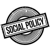 Social Policy rubber stamp. Grunge design with dust scratches. Effects can be easily removed for a clean, crisp look. Color is easily changed Stock Image